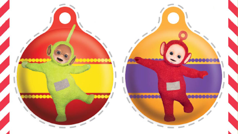 Teletubbies Christmas baubles!