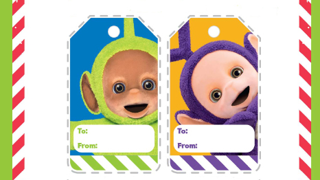 Make your own Teletubbies gift tags