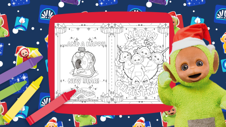 Colour in Christmas card