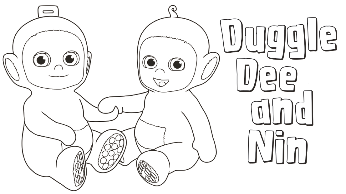 duggle dee and nin are best friends share this colouring sheet with your little ones - Things To Colour In