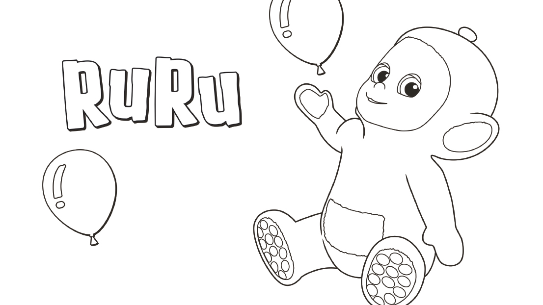 Is RuRu your favourite Tiddlytubby? Download this colouring sheet.