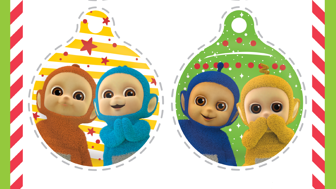 Make Tiddlytubbies baubles this Christmas!