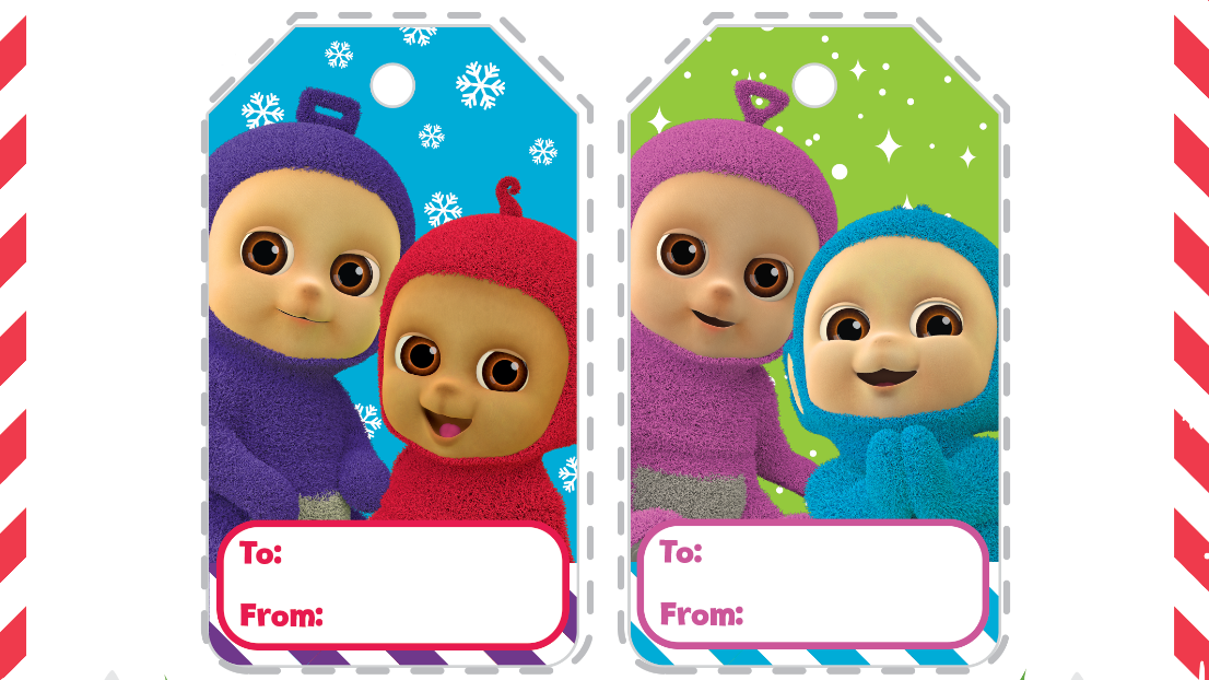 Tiddlytubbies gift tags