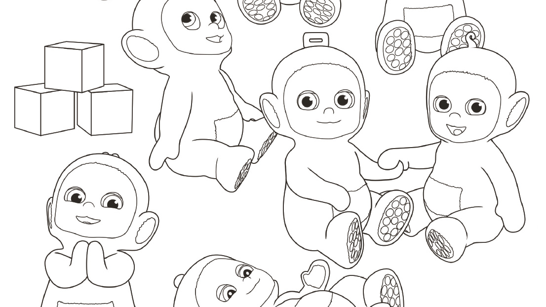 It's the Tiddlytubbies! Get to know all of them with this colouring sheet.