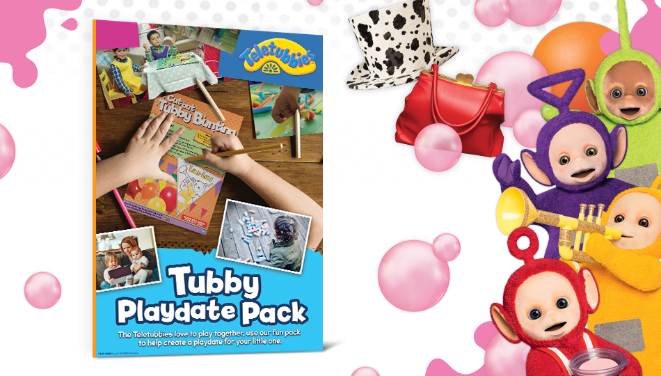 Everything you need for a playdate! Download our Tubby Playdate Pack, full of tips, recipes & games.
